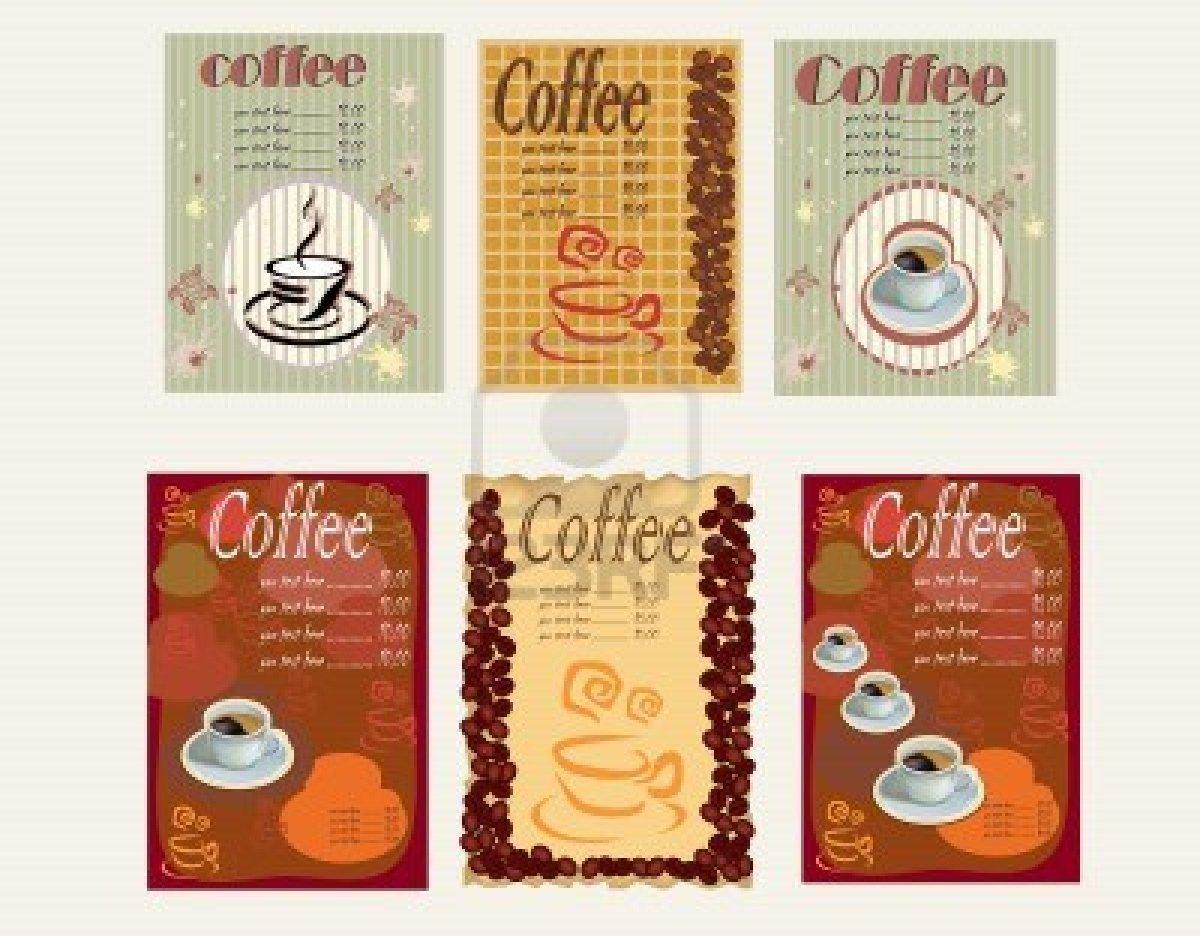 C mo crear men de una cafeter a caf for Disenos de menus para cafeterias