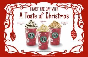bebidas navideñas de starbucks