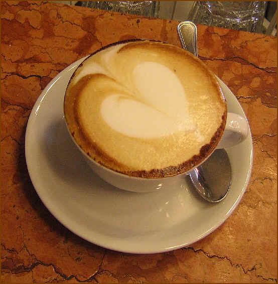 Corazón arte latte